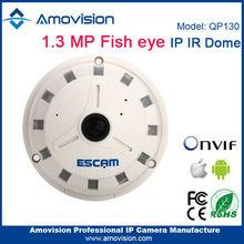 "Escam 1/3"" Progressive Scan CMOS SONY 238 Sensor Dual Stream H.264 QP130 fish eye digital ip camera on sales"