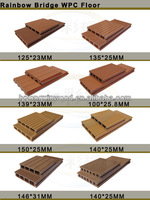 Promotional bamboo composite decking, plastic sheets for flooring, waterproof and non-slip floor