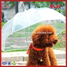 New product transparent PE material pet umbrellas for dog