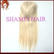 "Factory Cheap Top Grade #613 4""x4"" Cheap Human Hair Brazilian Remy Virgin Hair Top Closure"