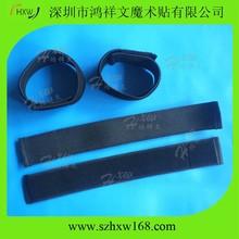 100 % flexible black woven elastic material hook & Loop Blousing Garter