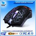 mais recente ótico com fio usb fcc rato 6d gamer 6d engraçado mouse de computador