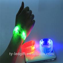 Size adjustable Flashing LED bracelet LED Sound Bracelet