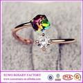 2015 novo diamante anel maçônico anel de caveira anel de gemstone