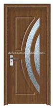 low price mdf bathroom door with glass ,frame