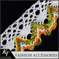 diseñador de producto de encaje triángulo bufanda con bordes de encaje de la moda