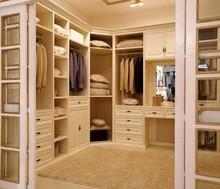 Cheap Modern Bedroom Furniture Wood Walk-in / Open Wardrobe Closet Design