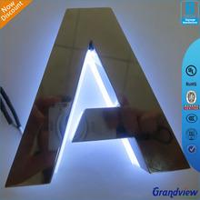 High polished wall led light 3d backlit logo sign