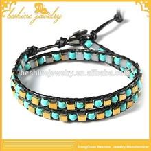 Turquoise and Beads Cheap Handmade Bracelet For Men