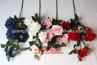 SJH011104 artificial fake red/ dark blue roses/ white roses