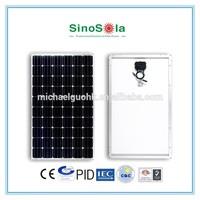 high efficiency big power tandem solar cell 250w mono solar panel module for solar system with TUV/PID/CEC/CQC/IEC/CE