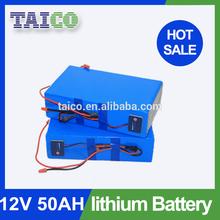 12v Rechargeable 50ah Lithium Solar Batteries