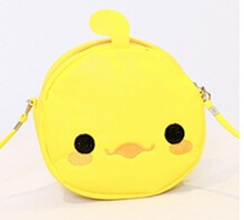 New trendy candy colour most popular cheap wholesale shoulder bags yellow cute cartoon long shoulder cross body bags