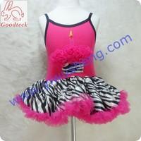 sexy girls hammock dress,baby hammock tank top with cake pattern and girls fluffy zebra pettiskirt
