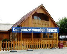 outdoor wood playhouses prefab wooden villa canadian prefabricated wood house/timber villa/log homes