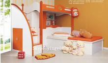 kid combination bedstead kid bunk bed small closet Children bedroom ark of ladder Children's double bed