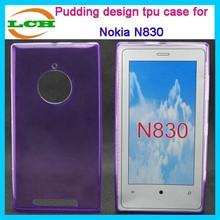 Inner and outside both glaze design tpu mobile phone case for nokia lumia 830