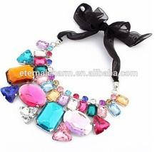 diamond ruby rainbow delicate necklace set