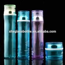 blue color coated 50g cream glass jar cosmetic glass 40ml 100ml lotion emulsion foundation bottle 120ml toner bottle