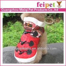 Warm and fashion pet dog winter coat dog apparel pet supply
