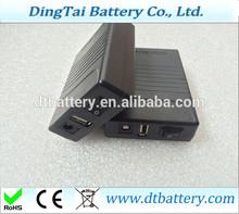 12v 6800mah 5v 12000mah Dual-port output battery for Emergency lighting, portable power, power tools
