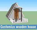 Pré-fabricada de luxo decorados casa de madeira casa para férias