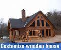 Artificial casas prefabricadas/baño al aire libre/log cabin/casa de bajo costo