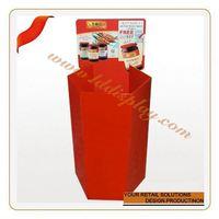 Customize new cardboard merchandising display dump bins lucozade display