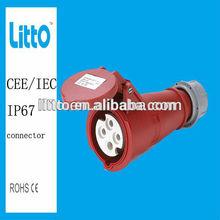 IP67 CEE waterproof plastic Panel mounted Industrial Socket Electrical plug&socket 3p+n+e