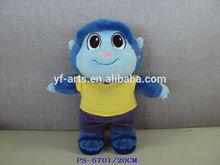 customized assorted plush monkey , plush animal keychain, mini plush animals
