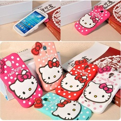 For Samsung Galaxy s3/s4/s5/note 2/note 3/note 4 Cute Hello Kitty Silicone Soft Case
