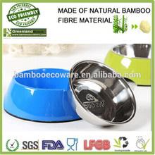 bamboo material FDA SGS CE certification pet feeder