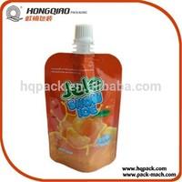 Juice Packaging Material Aluminium Foil Bag With Spout