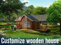 Pré-fabricadas casa do recipiente com rodas e alojamento económico estrutura de aço com dois quartos