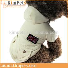 White fur pet cloth waterproof winter dog coats