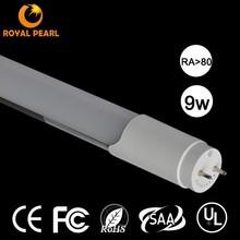 High lumens 2ft 4ft 5ft korea tube8 led light tube Ra80 UL approve 9w 900lm Ra80
