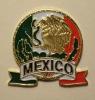 Mexico Flag Golden Eagle Coat Arms Souvenir Lapel Pin