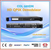 HD qpsk demdodulator with CAM/CI slot ,single channel hd satellite rf demodulator decoder COL5811DN