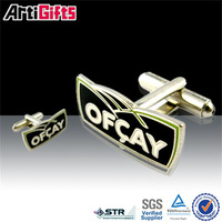 Made in china cheap metal cufflinks parts with epoxy