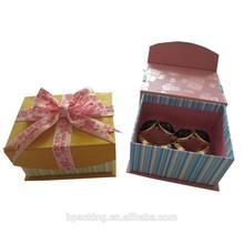 Handmade cardboard jewelry gift packing for bangle