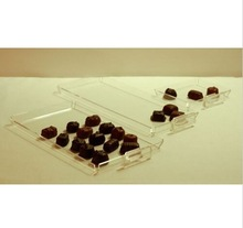 chocolate candy acrylic showcase display case tray for retail stores 10 per box