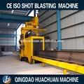 Q698 granallado máquina de limpieza para tubos de acero inoxidable de la plata y viga de acero de la superficie de limpieza