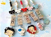 100+ style low moq custom key chain sliding charms