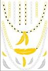 Newest design body temporary tattoo stickers ,flash Jewelry metallic temporary tattoo,gold necklace Sexy tatoo sticker
