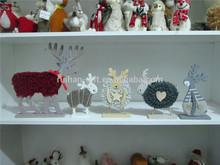 pure wool felt NEW christmas gift deer 2015 christmas home desk decoration