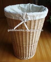 NATURAL willow laundry basket,BASKET