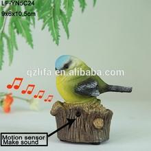 miniature decorative resin bird for garden decoration