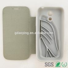 Fashional flip leather case for Samsung Galaxy S4MINI I9190