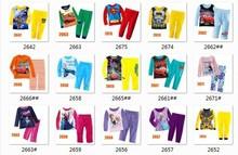 Girls Boys Cartoon Pajamas Sets Kids Clothing Set Wholesale Children 8-12Y LongSleeve Clothes 2642