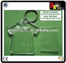 100pcs/lot blank photo acrylic keychain keyring T-shirt shaped keyring/hot new products for 2015